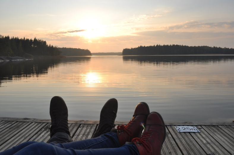 Baltic sea, archipelago, sunset