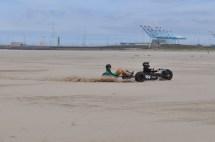 Kite buggy, tandem, Zeebrugge