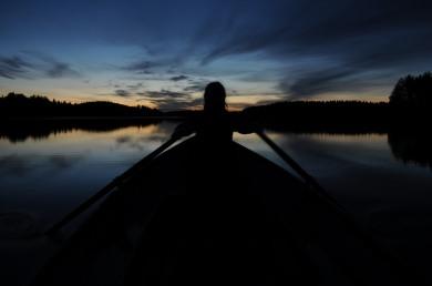 Night rowing!