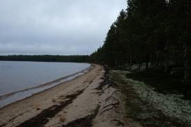 Beach, lake, Finland